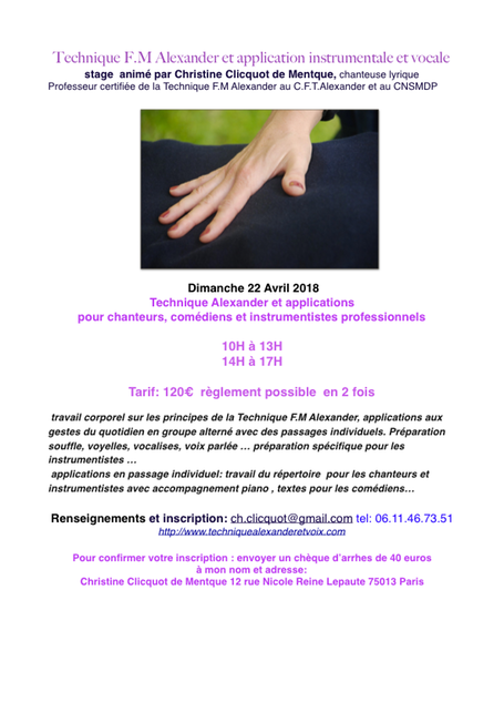 stages dimanche 22 avril 2018